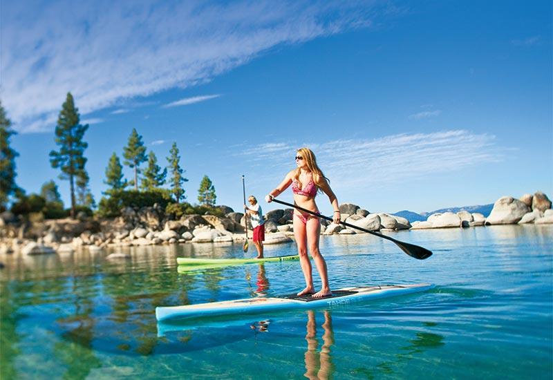 Paddle boarding in Tahoe