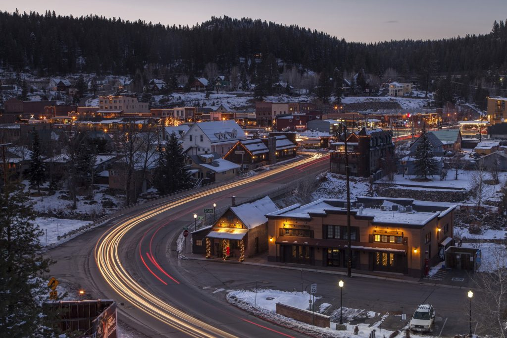 Downtown Truckee CA at Dusk