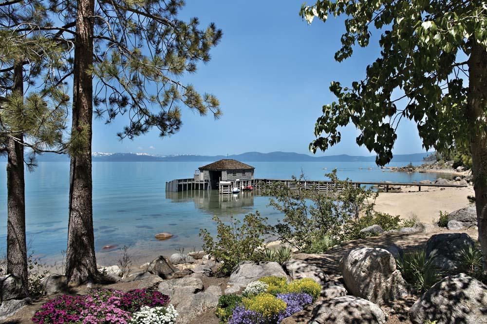 Lake Tahoe Boat House Pier Glenbrook NV